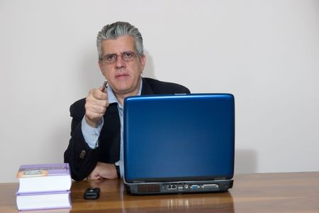 business at computer photo