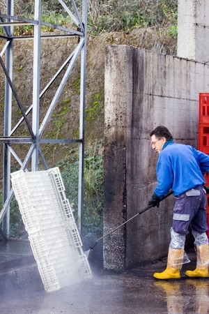 pressure washer Banque d'images