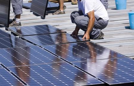 panneaux photovoltaïques  Banque d'images