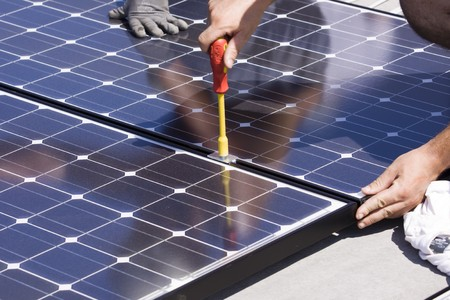 photovoltaic panels Stock Photo - 7827749