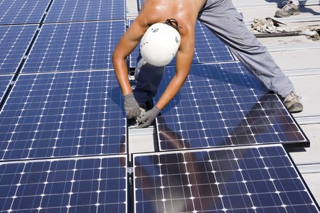 photovoltaic panels Stock Photo - 7827753