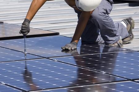photovoltaic panels Stock Photo - 7827682
