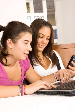students and computer photo
