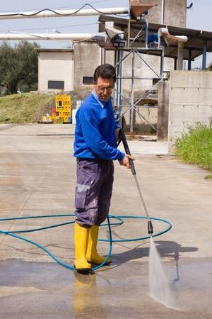 pressure washing: washing Stock Photo