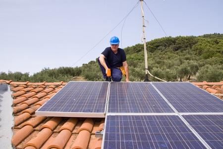 powerstation: sun energy Stock Photo