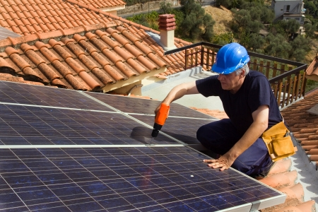 dinamismo: energia solare Archivio Fotografico