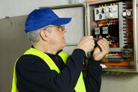 licensed: electrician Stock Photo