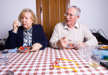 couple at table photo