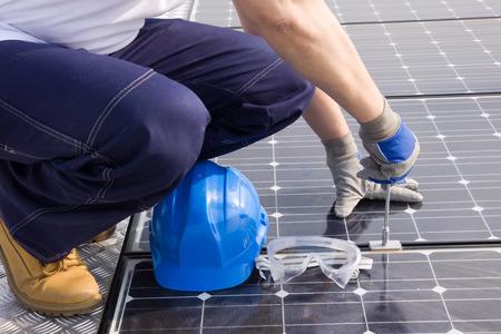 energy production: sun energy Stock Photo