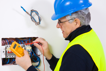 electrician tools: electrician Stock Photo