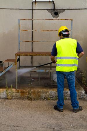 puttering: washing Stock Photo