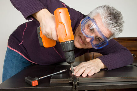 fitter: furniture fitter Stock Photo