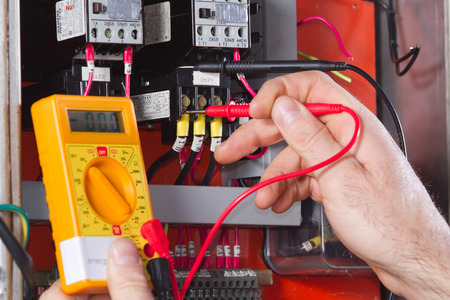 appliances: electrician Stock Photo