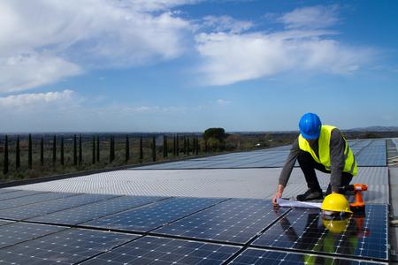 photovoltaïques Banque d'images