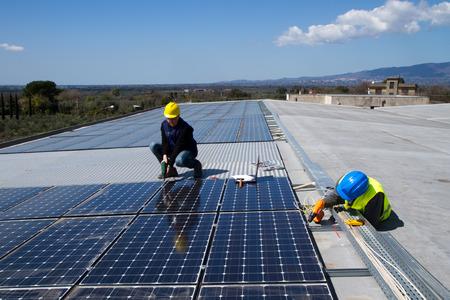photovoltaic Stockfoto