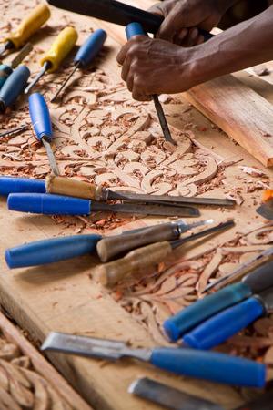 zanzibar: door craftsman in zanzibar