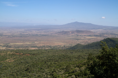 valley view: rift valley view from the nairobi hills Stock Photo