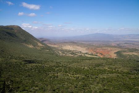 rift: rift valley view from nairobi hills Stock Photo