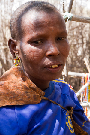 gatherer: datoga tribe woman portrait