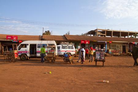 bus station in Karatu Editorial