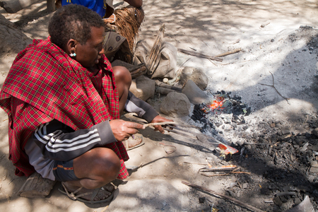 hunter gatherer: datoga tribe forging the iron tanzania