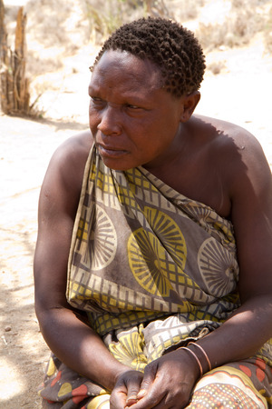 hunter gatherer: hadzabe woman portrait