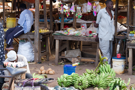 zanzibar: tanzanian maket in zanzibar Editorial