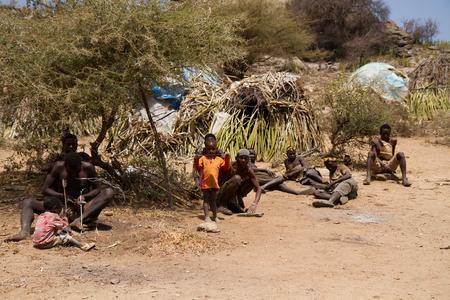 gatherer: hadzabe tribe in zanzibar near lake eyasi Editorial