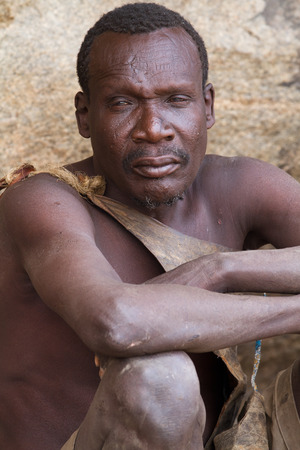hunter gatherer: hadzabe man portrait