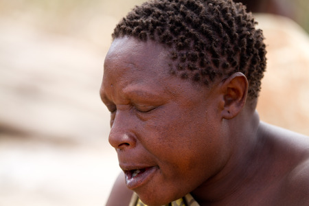 hunter gatherer: hadzabe tribe woman portrait