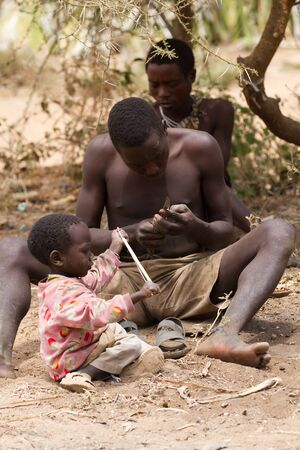 hunter gatherer: hadzabe tribe, family gathering, only 1000 people are left, they live in the old way