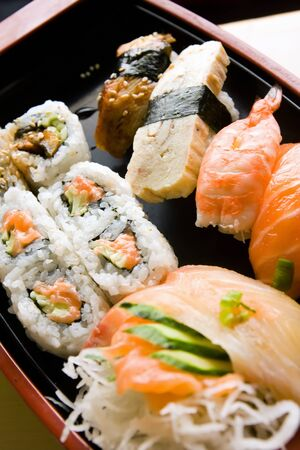 served: sushi served at table