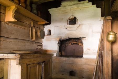 traditinal: old oven in a traditinal house