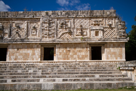 yucatan: uxmal ruins in mexico yucatan area Stock Photo