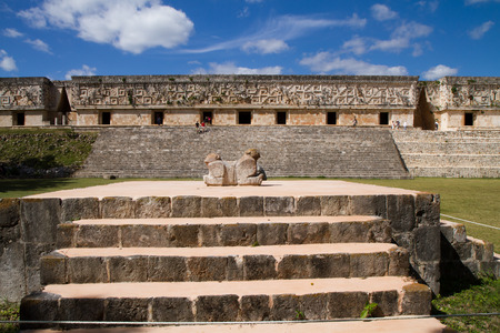 yucatan: uxmal ruins in south of mexico in yucatan area Stock Photo