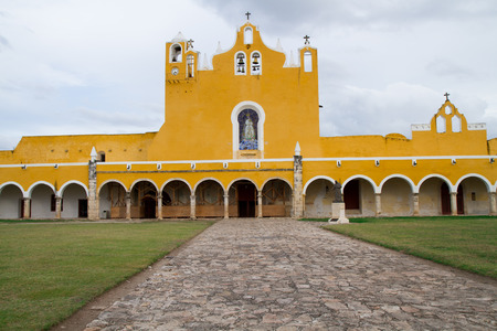 yucatan: izamal mexican church in mexico, yucatan area