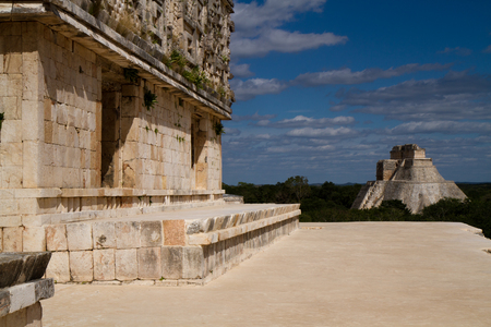 yucatan: uxmal ruins in the south of mexico, yucatan