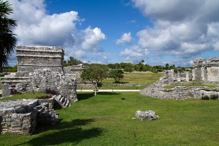 yucatan: tulum ruins in south of mexico, yucatan