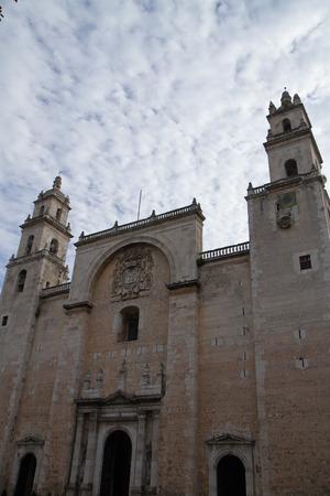 merida: merida cathedral in mexico, yucatan