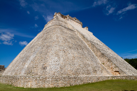 yucatan: uxmal ruins in yucatan in mexico Stock Photo