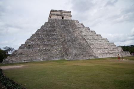 itza: chichen itza ruins in mexico in yucatan Stock Photo