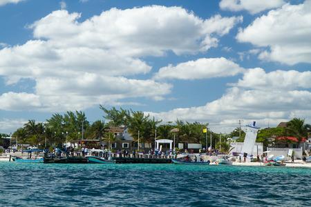 morelos: mexican riviera, puerto morelos in mexico