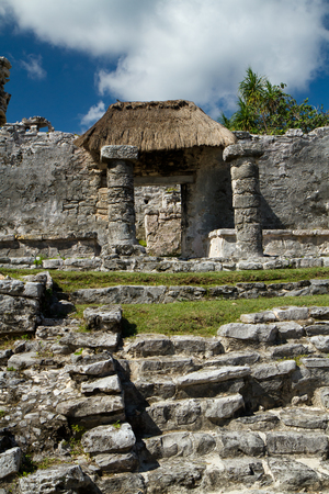 roo: tulum ruins in south of mexico