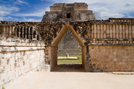 yucatan: uxmal ruins in south of mexico yucatan