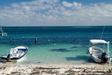 roo: mexican riviera beach in quintana roo Stock Photo