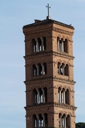 roma antigua: torre de la antigua Roma Foto de archivo