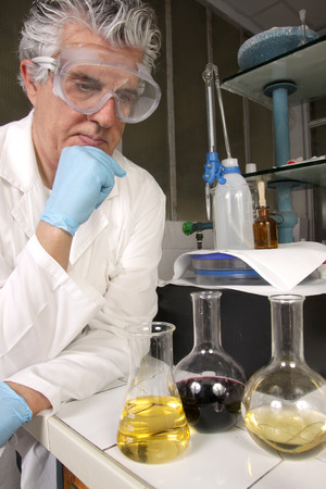 technologist: chemist at work in his lab
