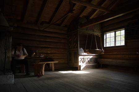 traditionele Scandinavische houten huis