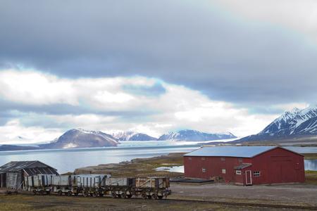 ny alesung in the svalbard island near north pole Stock Photo