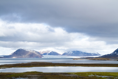 ny alesung in the svalbard island near north pole Stock Photo